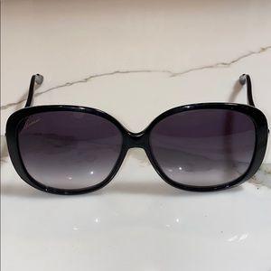 💯AUTHENTIC GUCCI BLACK SUNGLASSES 3157/S